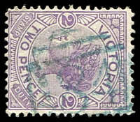Lot 10514:184: '184' in blue on 2d violet.  Allocated to Skipton-PO 6/3/1858; LPO 10/8/1993.