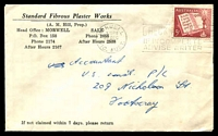 Lot 843:Standard Fibrous Plaster Works, Morwell cover franked with 5d Xmas, 22 Dec 1960 Morwell, Vic. slogan cancel.