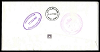 Lot 5974 [1 of 2]:Goulburn: - violet double-oval 'POSTMASTER/17FEB1982/GOULBURN N.S.W. 2580' backstamp on stampless APO cover cancelled with 24-hr clock 'SYDNEY G.P.O. 2000/16FEB1982/PRIORITY/PAID/OFFICE' (B2), small Priority Paid label.  PO 1/2/1832.