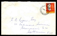 Lot 6800:Palm Beach: - 'PALM BEACH/19OC65/N.S.W' (spaced dateline) on 5d Monash on roughly opened cover.  PO c.-/10/1918.