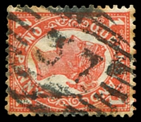Lot 1515:37: BN on 1d 4-Corners (toning). [Rated R]  Allocated to Curriwillinghi-PO 1/1/1864; replaced by Hebel PO 16/8/1889; closed 19/8/1989.