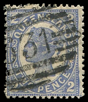 Lot 1103:631: '631' on 2d 4-Corners. [Rated R]  Allocated to Eagle Junction-RO c.1884; PO 1/12/1884; closed c.-/2/1911.