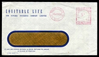 Lot 4576:Equitable Life window-faced cover cancelled with 15 Jun 1961 Melbourne meter cancel.