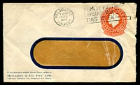 Lot 3827:1956-57 3½d Orange QEII Large Die BW #ES93 window-faced Envelope (opened-out) for McLaren & Co. Pty Ltd, Fitzroy, cancelled with 11 Dec 1957 Melbourne slogan cancel.