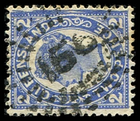 Lot 6909:156: rays on 2d 4-Corners.  Allocated to Georgetown-PO 15/1/1872.