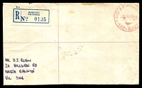 Lot 2634 [1 of 2]:Boronia: - 'PAID AT RELIEF 52/--■20MR68/VIC-AUST' (price turned off) in red on cover (toned areas) with blue registration label. [Recorded 20/3/1968 - 26/3/1968, ERD]  RO 1/10/1920; PO 15/5/1922.