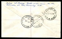 Lot 13701 [2 of 2]:Glen Waverley (2): - 'RELIEF/7MR68/73/VIC-AUST' on 25c Xmas on registered cover with blue nregistration label. [Only recorded date]  Replaced Glen Waverley North PO 4/12/1963; replaced by The Glen PO c.-/1/1994.