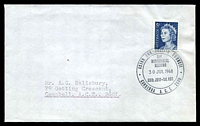 Lot 4756:1968 Asian & Pacific Council 'ASIAN AND PACIFIC COUNCIL/3rd./MINISTERIAL/MEETING/30JUL1968/30th.JULY·1st.AUG./CANBERRA A.C.T. 2600' on 5c blue QEII on cover, to ACT.