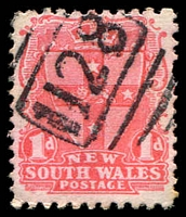 Lot 6238:1128: on 1d Arms.  Allocated to Summer Hill-PO 24/4/1882.