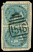 Lot 6063:1516: BN on ½d green pair.  Allocated to East Balmain-PO 1/2/1890; closed 28/2/1986.