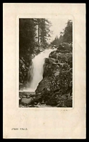 Lot 54 [1 of 2]:Australia - New South Wales: black & white real photo PPC 'Fairy Falls' Rotary Photographic Plate Sunk Gem Series, franked with ½d green, poor framed Broadwater 12 May 1908 (B2-) cancel.