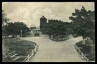 Lot 358 [2 of 2]:Australia - New South Wales: black & white real photo PPC 'Sydney Observatory' Sydney Pleasure Resort Series, Kerry card, franked with 1d Arms and cancelled with poor framed Galston cds.  PO 26/5/1890.