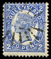 Lot 1526:119: poor '119' on 2d 4-Corners. [Rated 3R]  Allocated to Rishton-RO c.1882; PO 1/1/1883; RO c.1896; closed c.1913.