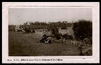 Lot 351 [2 of 2]:Australia - Victoria: black & white real photo PPC 'Queen Gardens, Melbourne, Queen Victoria's Monument in the Distance' G.P.C. Depot H.T. Series Melbourne No. 6 card, franked with 1d pink, 8 Nov 1909 Ballarat framed duplex cancel.