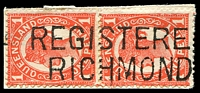 Lot 7923:Richmond: two-lined 'REGISTERE[D]/RICH