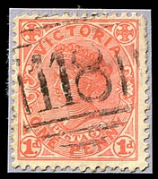 Lot 1985:118: on 1d pink. [Rated SS]  Allocated to Batesford-PO 18/8/1856; TO 3/6/1942; closed 31/1/1949.