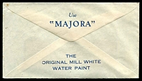 Lot 810 [2 of 2]:Norman McLeod & Co. Pty. Ltd. window-faced cover for Majorca - The Original Mill White Water Paint, cancelled with 14 Mar 1934 Burwood, N.S.W. meter.