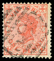 Lot 11173:1588: '1588' on 1d pink. [Rated SS]  Allocated to Lake Boga-PO 8/8/1887; LPO 8/9/1993.