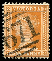 Lot 12387:1671: '1671' on 1d brown.  Allocated to Caulfield East-RH 6/12/1888; PO c.1902; renamed Malvern East PO 1/2/1928.