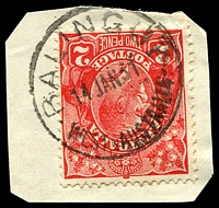 Lot 3358:Balingup: - 'BALINGUP/14JAN31/WESTNAUSTRALIA' (D27) on 2d red KGV.  PO c.-/12/1885.