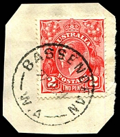 Lot 3359:Bassendean: - 'BASSENDEAN/27JE31/W.A' (C28) on 2d red KGV.  Renamed from West Guildford PO 23/9/1923.