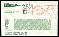 Lot 565:Radio Rentals illustrated window-faced cover, cancelled with 22 Nov 1974 Adelaide Postage Paid meter, torn flap.