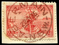 Lot 6273:Abermain: - red 'ABERMAIN/22JY36/N.S.W.' on faulty 2d Cable.  RO 1/6/1904; PO 5/12/1904.