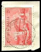Lot 1525:Preston South: - 'SOUTH PRESTON/21.APR.32/TASMANIA' on 2d Bridge. [Rated 2R]  RO c.-/8/1906; PO 1/6/1927; closed 31/1/1969.