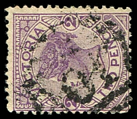 Lot 11312:2017: '2017' on 2d violet.  Allocated to Hillend-PO 8/1/1900; closed 30/5/1981.