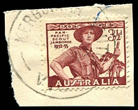 Lot 15126:Kergunyah South: - WWW #20A 'KERGUNYAH SOUTH/2?????/VIC' on 3½d Jamboree. [Rated PPP]  PO 10/9/1891; closed 30/11/1967.
