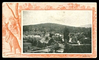 Lot 15564 [1 of 2]:Marysville: - black & white PPC 'Marysville' (aerial view), franked with 1d pink, cancelled with unframed duplex 'HEALESVILLE/OC16/05/VICTORIA - 521' (A2), undivided back.  PO 1/3/1865; LPO 21/7/1993.