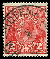Lot 3580:Hoffmans Mill: - 'HOFFMAN'S [MI]LL/12MR36/W.A.' (C31) on 2d red KGV.  PO 22/6/1908; closed 29/12/1961.