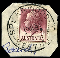 Lot 3626:Spearwood: - 'SPEARWOOD/10JL58/WEST-AUST' on 4d lake QEII.  RO 1/7/1911; PO 1/5/1913.