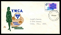 Lot 928:Royal 1967 YWCA Centenary tied to illustrated FDC by 'COLAC/21AU67/VIC-AUST' (B2 - WWW #130B - Rated R) cds, typed addressed.