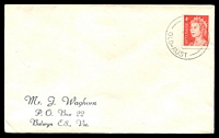 Lot 1576:Bluewater: - 'BLUEWATER/14JE66/QLD-AUST' on 4c red QEII on Waghorn cover. [Rated 2R]  TO c.-/2/1960; PO c.-/5/1960.