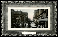 Lot 2151 [2 of 2]:1124: unframed duplex 'ST KILDA RY STN/JA18/10/VIC - MC/24' on 1d pink on black & white framed real photo PPC 'George Street, Sydney' Ward, Lock & Co. Ltd, London & Melbourne card, small corner faults.  Allocated to St. Kilda West-PO c.-/3/1879; renamed St. Kilda R.S. PO 1/10/1886; replaced by St. Kilda West PO 24/10/1970.
