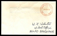 Lot 12215:Bandiana Mil. P.O.: - WWW #320 'BANDIANA MILPO/PAID/230P-4SE84/VIC-AUST- 3694' (ERD) in red on Webster cover.  PO 28/9/1942; LPO 4/3/1994.