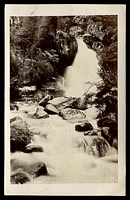 Lot 2900 [2 of 2]:Porepunkah: - WWW #10 2 strikes of unframed 'POREPUNKAH/A?10/05/VIC' on 1d pink on black & white real photo PPC 'Ladies Bath (waterfall), Eurobin'.  PO 22/2/1870; LPO 1/7/1994.