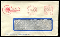 Lot 4505:Humes Ltd. window-faced cover for Masters in Concrete and Steel, 4 Jan 1963 Melbourne meter cancel.
