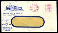 Lot 4559:Ringwood Timber & Trading Co. Pty. Ltd. window-faced cover with logo cancelled with 23 Aug 1963 Ringwood meter cancel.