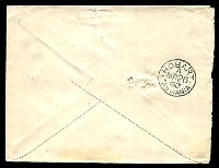 Lot 5561 [2 of 2]:331: rays (2R37) on 2d blue tied by framed 'HAMILTON/MR21/1901/N.S.W' (A2) on Tatt's cover (spike holes).  Allocated to Bore Hole-PO 12/5/1862; renamed Hamilton PO 1/8/1872.