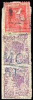 Lot 2137:1151: 2 strikes of 'MC/51' in blue on 1d pink & 2d violet pair.  Allocated to Baddaginnie-PO 16/9/1879; LPO 1/10/1993.