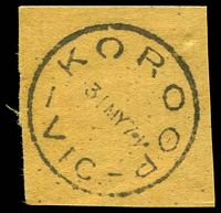 Lot 15204:Koroop: - WWW #20B 'KOROOP/31MY71/VIC.' (Closing day). [Rated PPP]  PO c.-/1/1879; closed 31/5/1971.