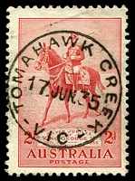 Lot 16958:Tomahawk Creek: - WWW #20 'TOMAHAWK CREEK/17JUN35/VIC' on 2d Jubilee.  PO 7/11/1879; closed 28/10/1955.