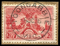 Lot 16977:Toongabbie: - WWW #40 'TOONGABBIE/6OC36/VIC' on 2d SA Centenary.  PO 1/12/1865; LPO 19/8/1993.