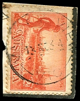 Lot 15755:Valley View: - WWW #10 'VALLEY VIEW/13NO34/VIC.' on 2d Vic Centenary. [Rated 4P - An A2 copy sold for $150 in sale 115.]  TO 30/3/1925; PO 1/1/1933; closed 31/3/1945.
