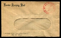 Lot 536:Border Morning Mail window-faced cover cancelled with 'PAID AT ALBURY/1½D10AU49/N.S.W' (A1-) in red.