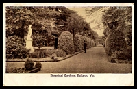 Lot 1875 [2 of 2]:5: 17th duplex 'BALLARAT/AM/5/17.8.05/2' on 1d pink on black & white PPC Botanical Gardens, Ballarat, toning on back, worn corners.  Allocated to Ballarat-PO 1/11/1851.