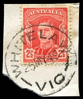 Lot 3241:Whitelaw: - WWW #20 'WHITELAW/25MY49/VIC' on 2½d red KGVI.  PO 1/10/1891; closed 30/11/1961.