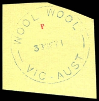 Lot 3310:Wool Wool: - WWW #20B WOOL WOOL/30SE71/VIC-AUST' (Closing day archival strike). [Rated 3P]  RO 1/4/1921; PO 1/12/1923; closed 30/9/1971.